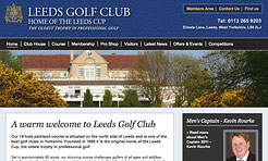 Freelance Web Designer Leeds - Leeds Golf Club