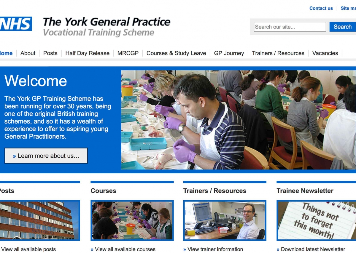 Click to visit NHS - York GPVTS